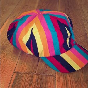 Adorable colorful rainbow hat